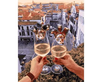 Картина по номерам Венецианские бокалы