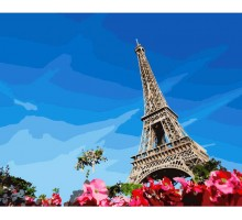 Картина по номерам Эйфелева башня весной