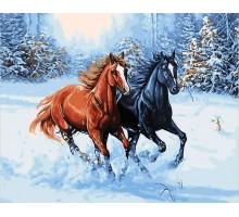 Картина по номерам Зимняя прогулка