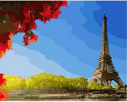 Картина по номерам Клен у Эйфелевой башни