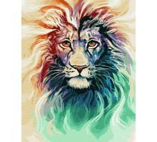 Картина по номерам Акварельный лев