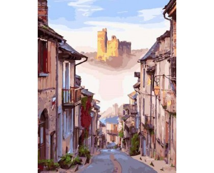 Картина по номерам Улочка старого города