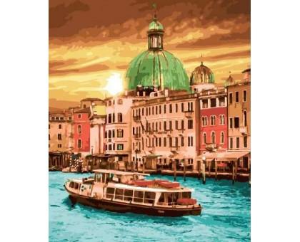 Картина по номерам Яркий закат Венеции