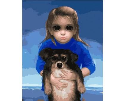 Картина по номерам Ребенок с питомцем Маргарет Кин