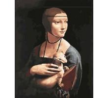 Картина по номерам Дама с горностаем Леонардо да Винчи