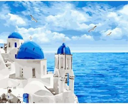 Картина по номерам Облака Санторини