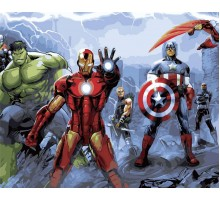 Картина по номерам Команда супергероев