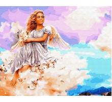 Картина по номерам Ангел на облаке