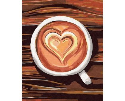 Картина по номерам Любовь в чашке
