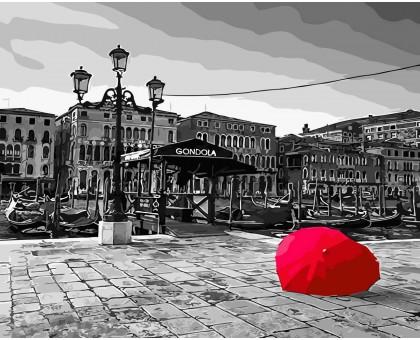 Картина по номерам Зонт на мостовой