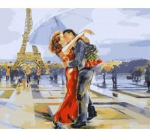 Картина по номерам Париж - город влюбленных