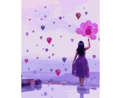 Картина по номерам Фиолетовый мир