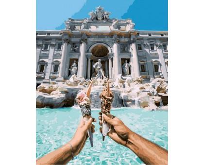 Картина по номерам У фонтана Треви