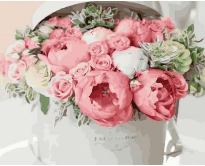 Картина по номерам Нежно-розовый букет