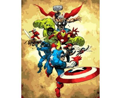 Картина по номерам Супергерои