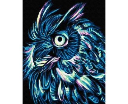 Картина по номерам Неоновая сова
