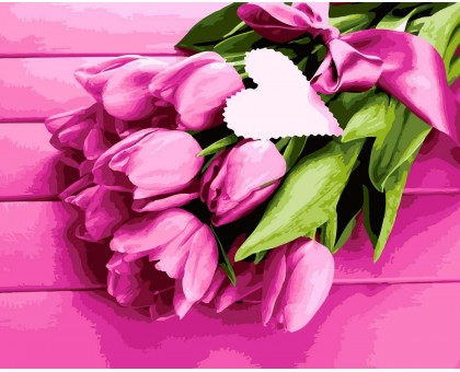 Картина по номерам Нежность тюльпанов