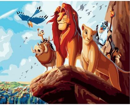 Раскраска по номерам Король Лев