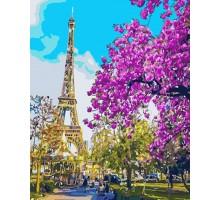 Картина по номерам Париж. Цветение вишни