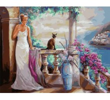 Картина по номерам Леди и ее кошка