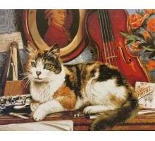 Картина по номерам Кот и скрипка