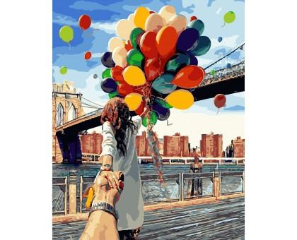 Картина по номерам Следуй за мной. Бруклинский мост (БЕЗ КОРОБКИ)