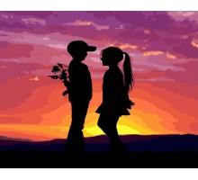Картина_Раскраска по номерам Первая любовь