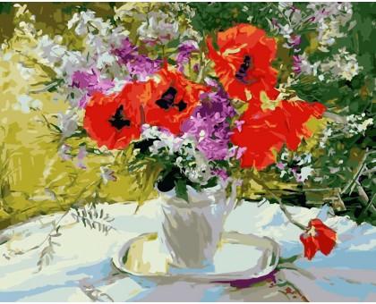 Картина по номерам Цветочное великолепие