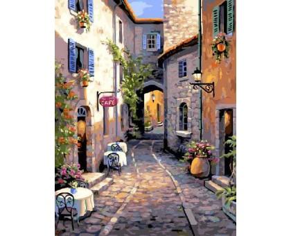 Картина по номерам Уютная улочка