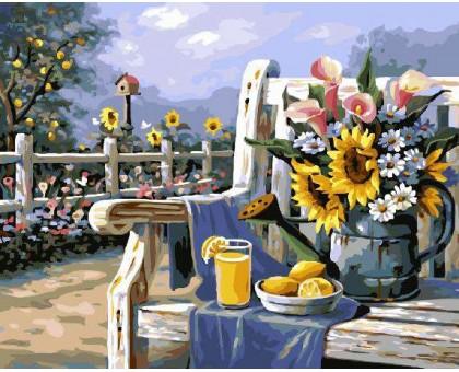 Картина по номерам Подсолнухи и лимонад