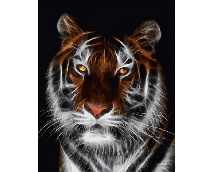 Картина по номерам Тигр во тьме