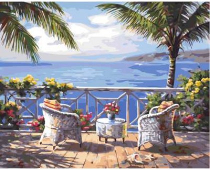 Картина по номерам Терасса с видом на море