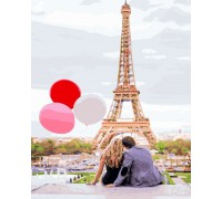 Картина по номерам Парижская любовь(Без коробки)