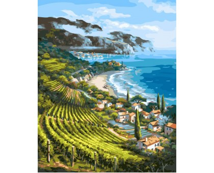 Картина по номерам Виноградники Италии