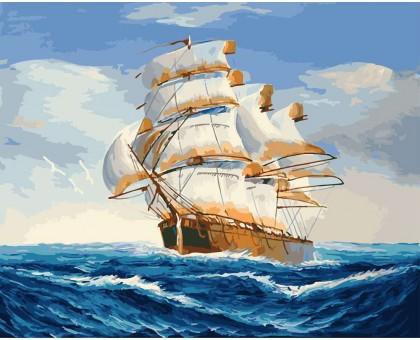 Картина_Раскраска по номерам На всех парусах