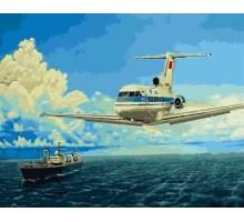 Картина по номерам Два лайнера