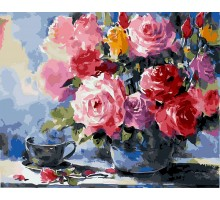 Картина по номерам Розы на столе