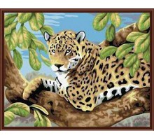 Раскраска по номерам Леопард