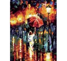 Картина по номерам Прогулка под красным зонтом