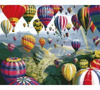 Картина по номерам Разноцветные шары