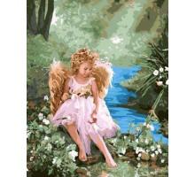 Картина по номерам Ангелочек на берегу ручья