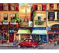 Раскраска по номерам Улочки Парижа