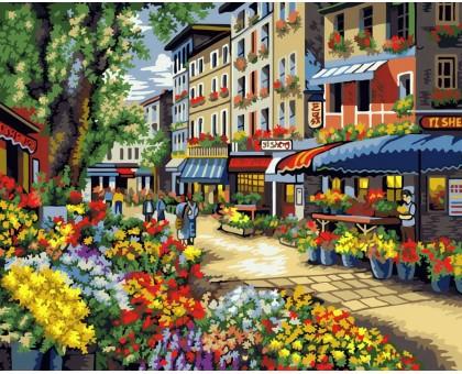 Картина по номерам Цветочная лавка
