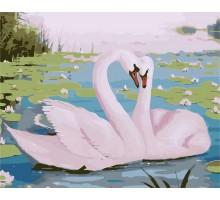 Картина по номерам Прекрасные лебеди