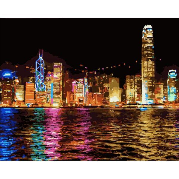 Картина по номерам Ночной Гонконг