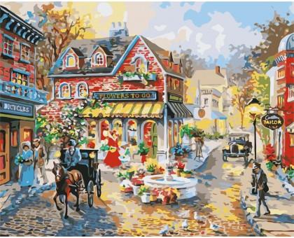Картина по номерам Городская площадь (Без коробки)