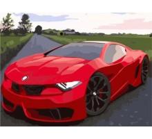 Картина по номерам Красное авто