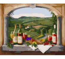 Картина по номерам Вид на виноградники