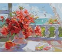 Картина по номерам Розы на веранде (БЕЗ КОРОБКИ)