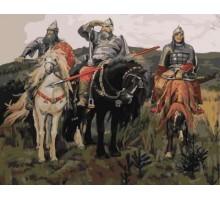 Картина по номерам Три богатыря